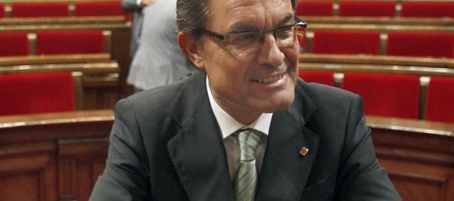 Artur Mas, en el hemiciclo del Parlament de Catalunya