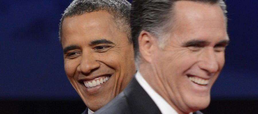 Romney y Obama, en su primer debate
