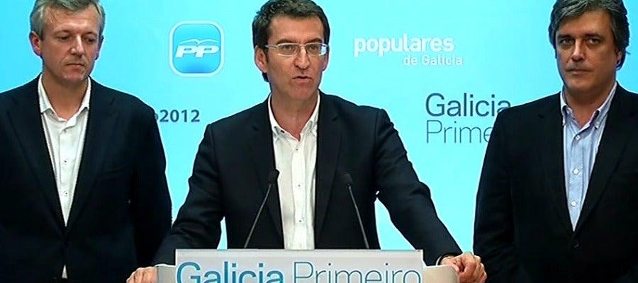 Alberto Núñez Feijóo tras ganar las elecciones