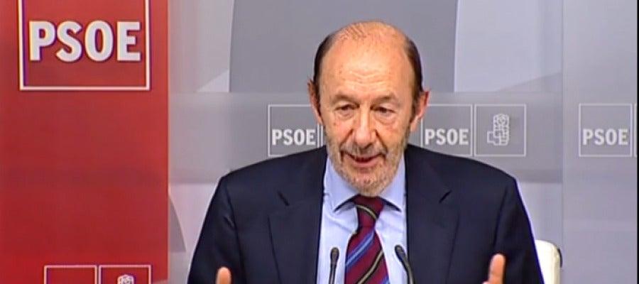 Rubalcaba tras la Ejecutiva Federal del PSOE