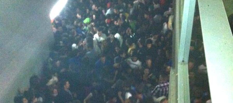 Pasillo con la avalancha en el Madrid Arena