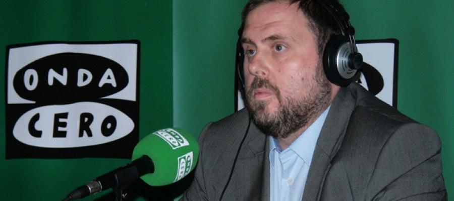 Oriol Junqueras, candidat d'ERC, a Onda Cero