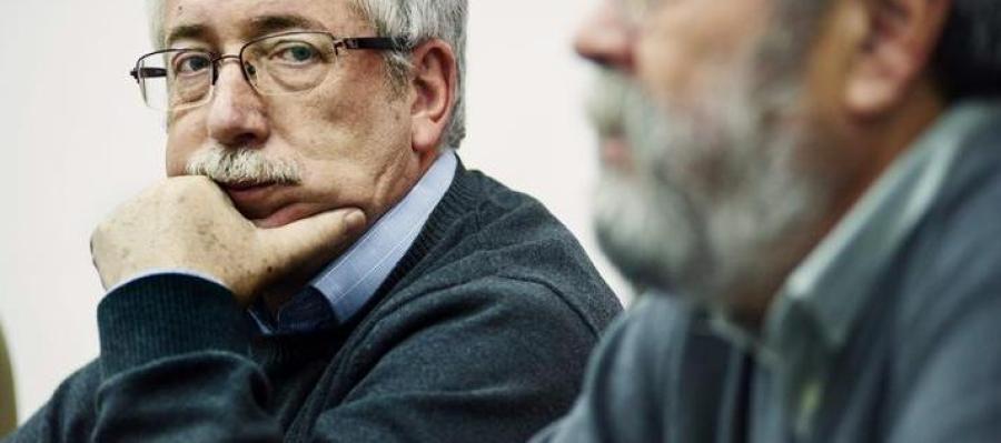Ignacio Fernández Toxo (CCOO) y Cándido Méndez (UGT)