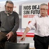 Méndez y Toxo hacen una primera valoración de la huelga