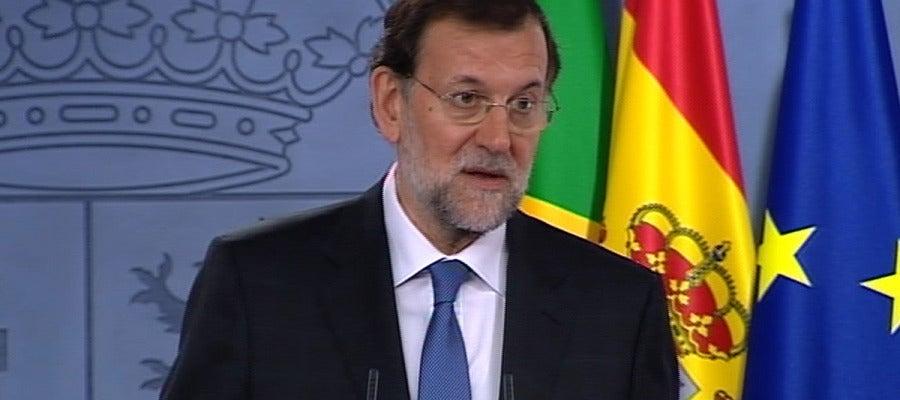 Mariano Rajoy, en la rueda de prensa con Rousseff