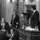 Congreso de los Diputados durante el intento de golpe de Estado