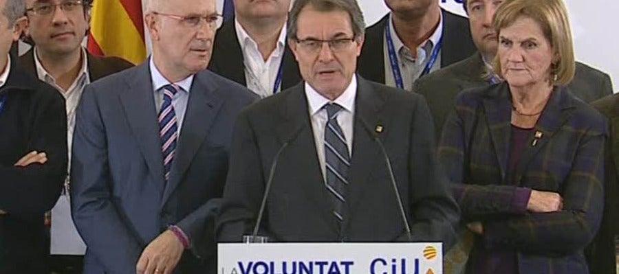 Artur Mas tras conocer los resultados electorales