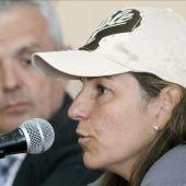 Arantxa Sánchez Vicario en rueda de prensa