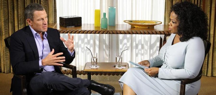 Lance Armstrong con Oprah Winfrey