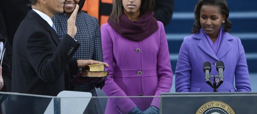 Obama jura su cargo como Presidente de los EEUU