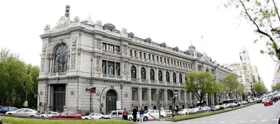 Vista de la fachada del Banco de España. Archivo.
