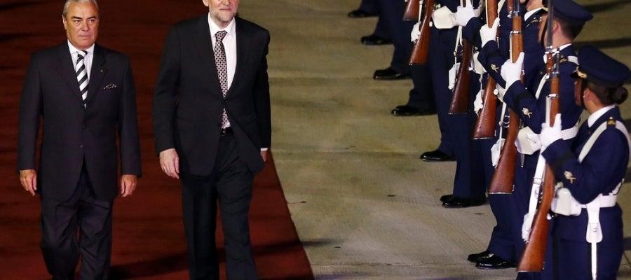 Mariano Rajoy, a su llegada al Aeropuerto Internacional de Santiago de Chile