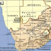 Mapa de Sudáfrica