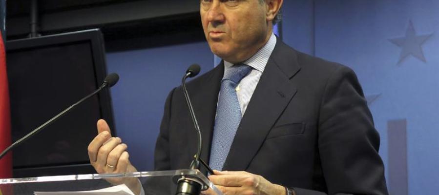 Luis De Guindos después de la reunión del Ecofin