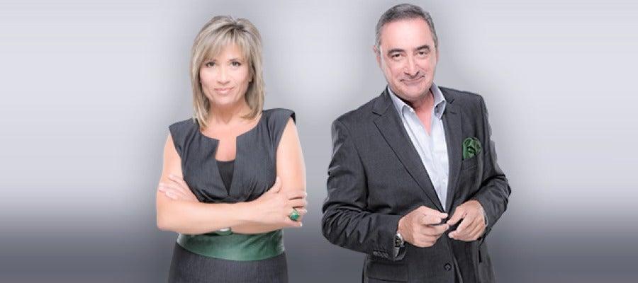 Julia Otero y Carlos Herrera
