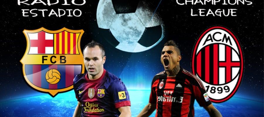Escudos Champions Barcelona - Milan