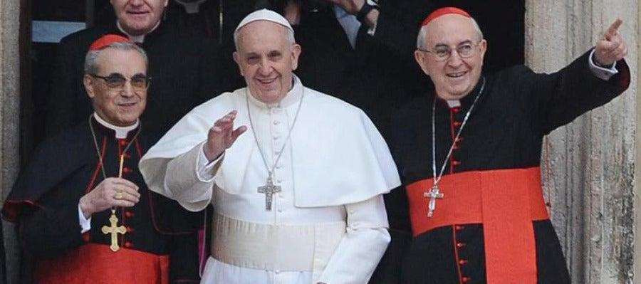 El papa Francisco, en su primer día de Pontificado
