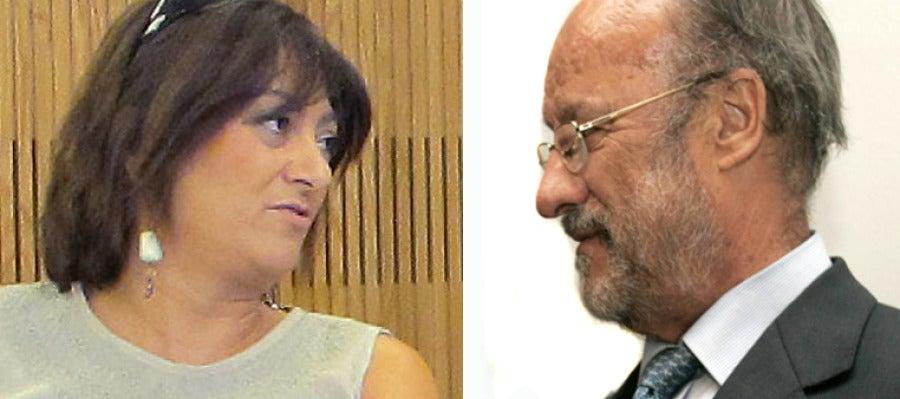 La alcaldesa de Medina del Campo, Teresa López y Javier León de la Riva, alcalde de Valladolid