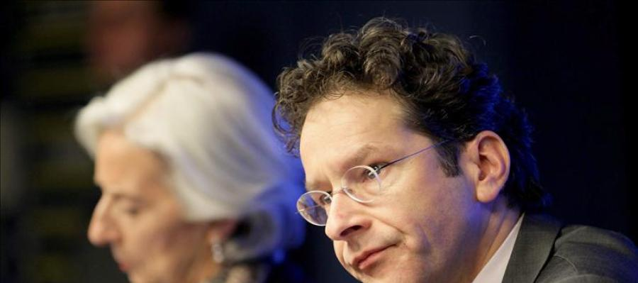 El presidente del Eurogrupo, Jeroen Dijsselbloem, en rueda de prensa