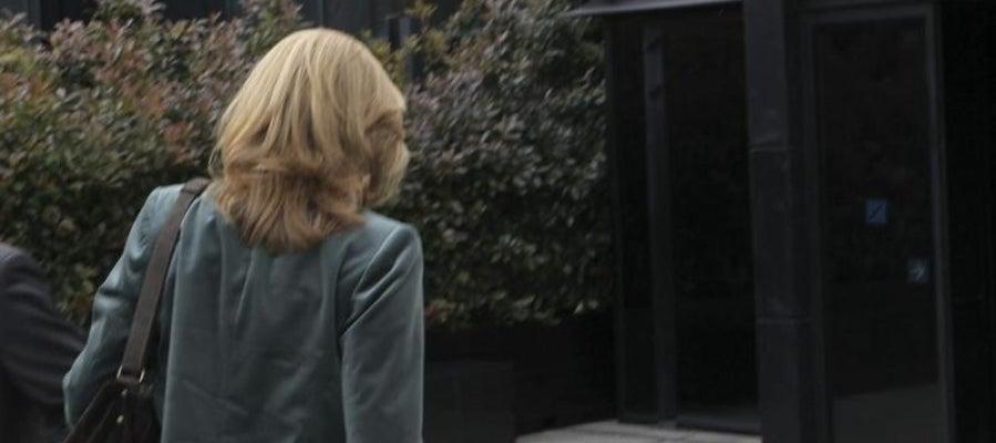 La infanta Cristina, de espaldas antes de entrar al trabajo