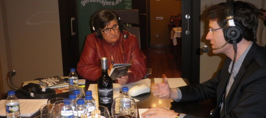 Esther Eiros con Gonzalo Capellán, consejero de Turismo de La Rioja