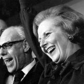 Margaret Thatcher con su marido Denis