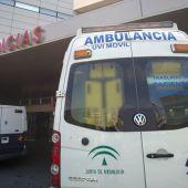 Ambulancia en un hospital de Andalucia