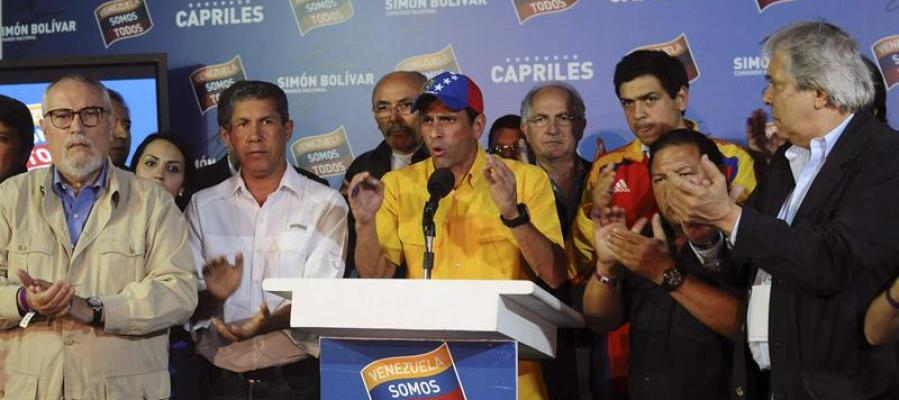 El candidato de la oposición a la Presidencia de Venezuela, Henrique Capriles