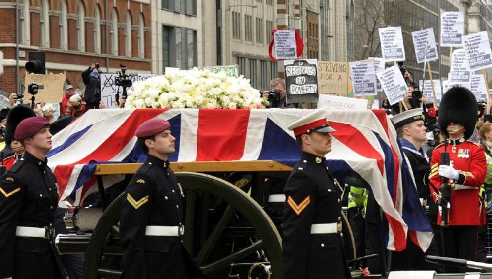 Cortejo fúnebre de Thatcher