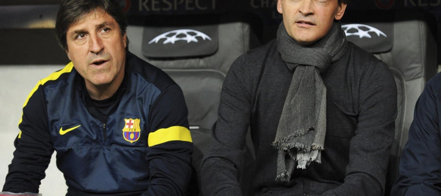 Jordi Roura fue su fiel escudero en el cuerpo técnico