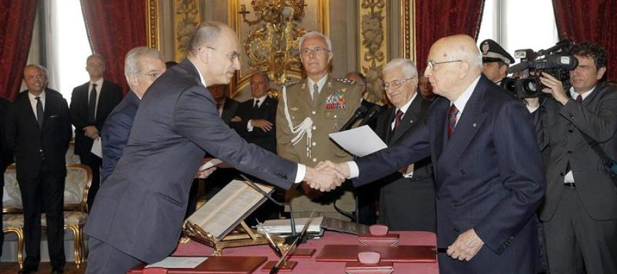 Letta jura como nuevo jefe del Gobierno italiano
