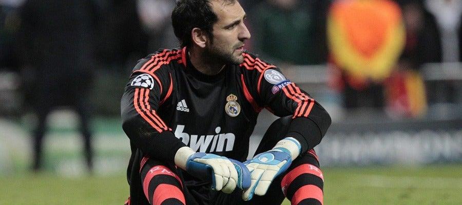 Diego López durante un partido con el Real Madrid