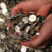 Monedas recién acuñadas