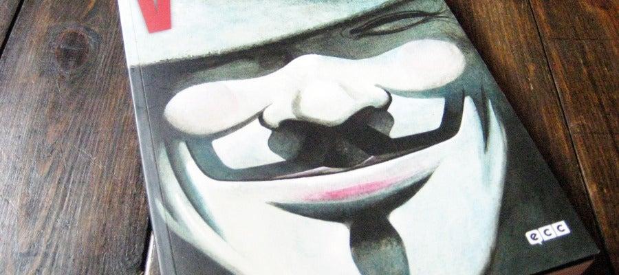 Portada de V de Vendetta, que edita ECC