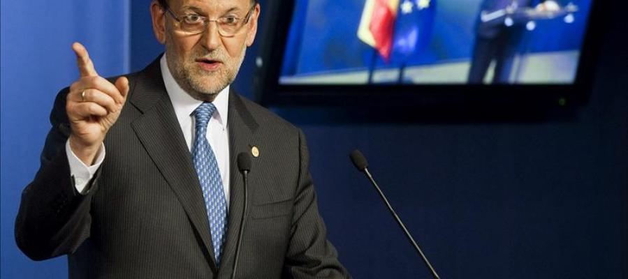 Mariano Rajoy habla en Bruselas