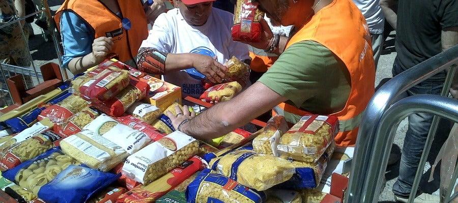 Campaña de recogida de alimentos de Mensajeros de la Paz