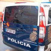 Un furgón de la Policía Nacional en Ceuta.