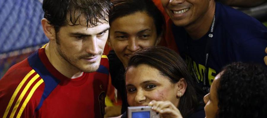 Iker Casillas, con la selección en Brasil