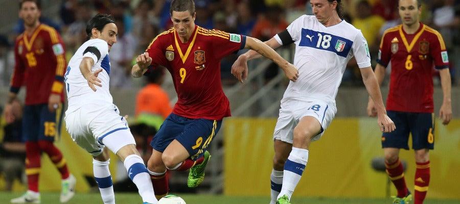 Torres, en acción ante Italia
