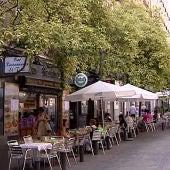 Una terraza de un bar en Madrid