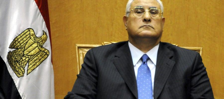 El nuevo presidente interino de Egipto, Adli Mansur.