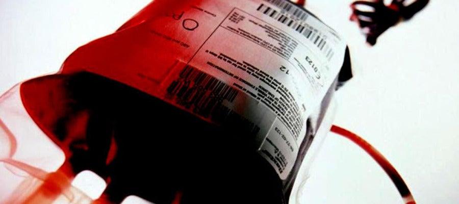 Imagen de archivo de una bolsa de sangre