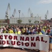 Los astilleros protestan en Sestao