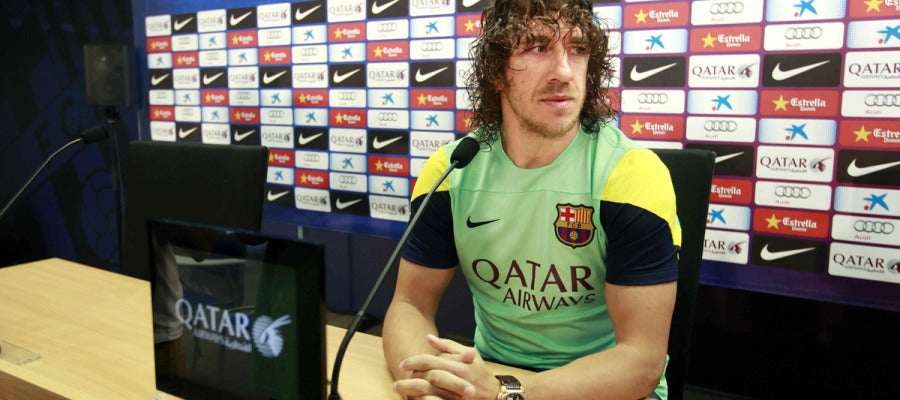Carles Puyol, en rueda de prensa