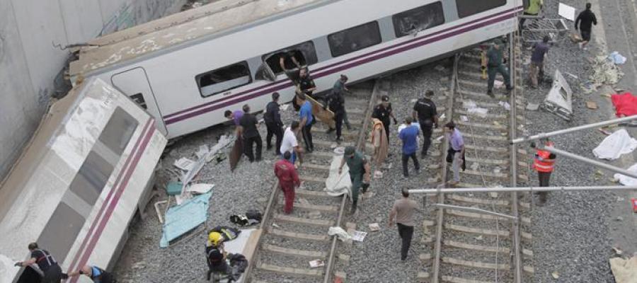 Estado en el que quedó el tren
