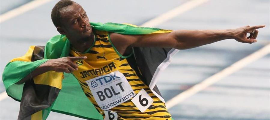 Usain Bolt, tras lograr el oro en 100 metros en la pasada edición de los Mundiales de Moscú