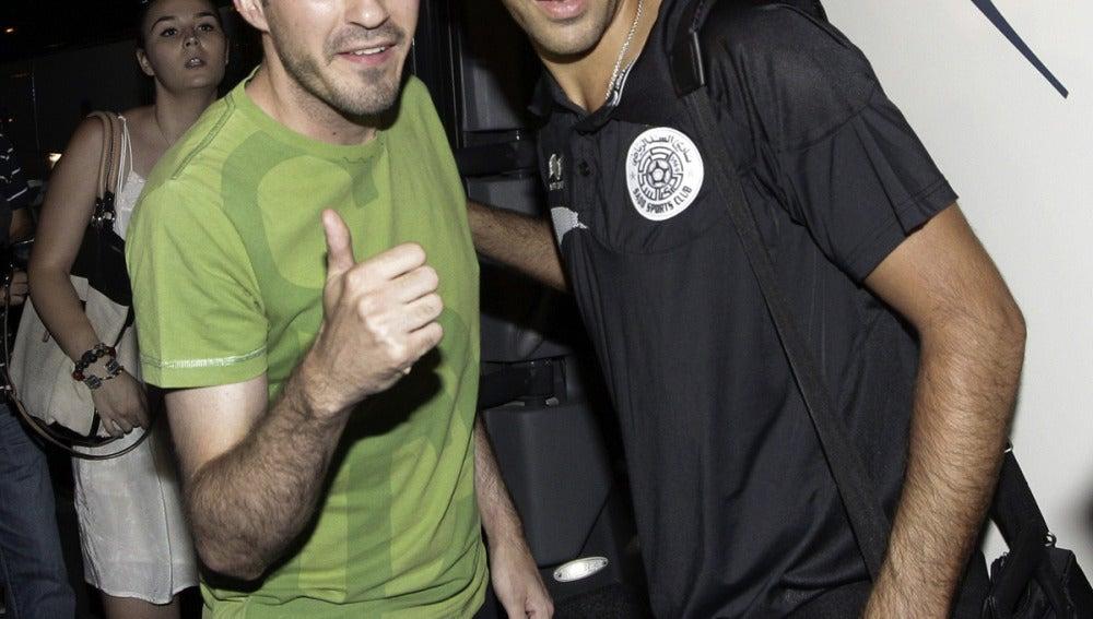 Raúl se fotografía con un aficionado