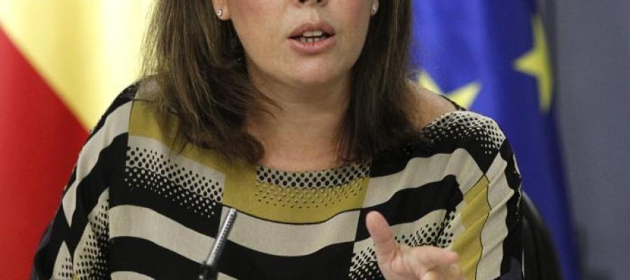 Soraya Sáenz de Santamaría durante el Consejo de Ministros
