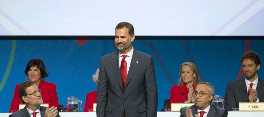 Mariano Rajoy, el Príncipe Felipe y Alejandro Blanco