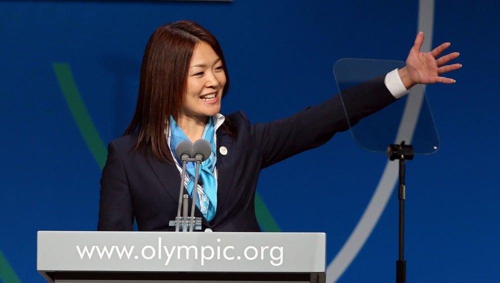 Mami Sato, durante la presentación de Tokio.